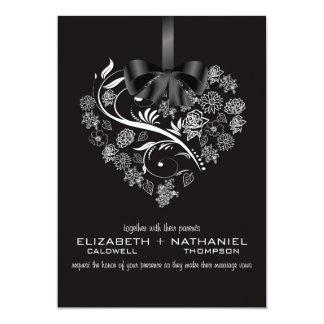 Breathless Wedding Invitation--midnight 13 Cm X 18 Cm Invitation Card