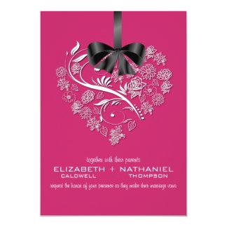 Breathless Wedding Invitation--passion pink 13 Cm X 18 Cm Invitation Card