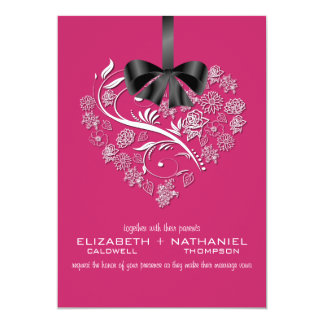 Breathless Wedding Invitation--passion pink Card