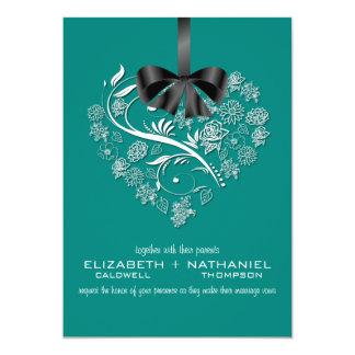 Breathless Wedding Invitation--peacock 13 Cm X 18 Cm Invitation Card
