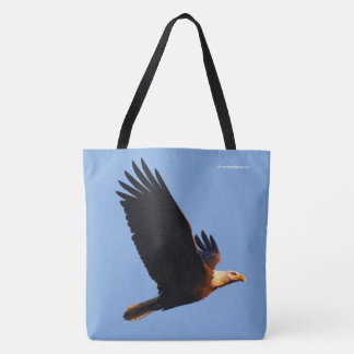 Breathtaking Bald Eagle in Winter Sunset Flight Tote Bag