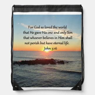BREATHTAKING JOHN 3:16 SUNRISE DRAWSTRING BAG