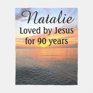 BREATHTAKING SUNRISE 90TH BIRTHDAY CUSTOM BLANKET