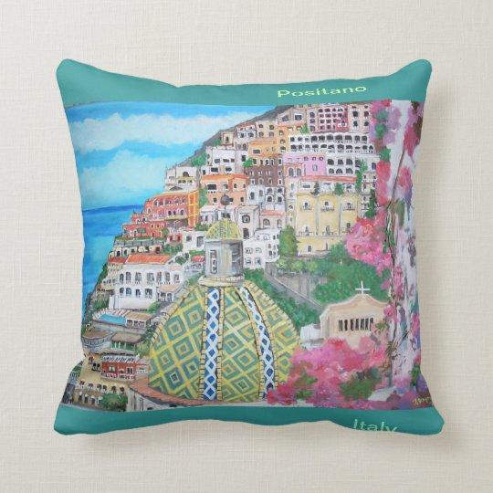 Breathtaking vistas of Positano Throw Pillow