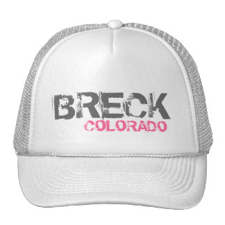 Breck Colorado simple white hat