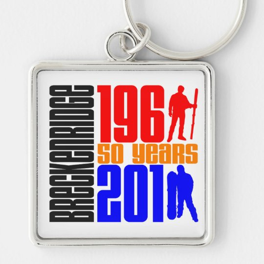 Breckenridge 50th Anniversary 3 Colour Keychain