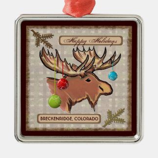 Breckenridge Colorado artistic moose ornament