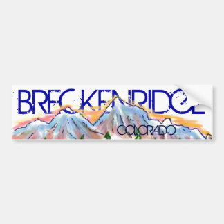 Breckenridge Colorado artistic mountain sticker