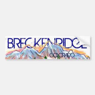 Breckenridge Colorado artistic mountain sticker Bumper Sticker
