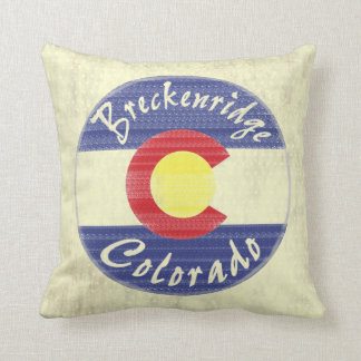 Breckenridge Colorado circle flag decor pillow