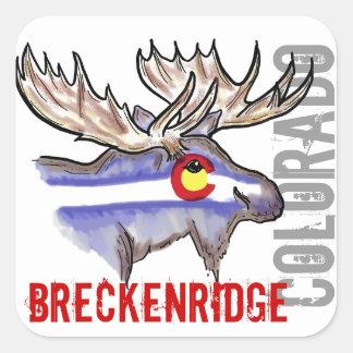 Breckenridge Colorado flag elk design stickers