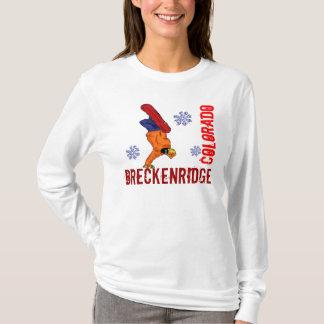 Breckenridge Colorado ladies snowboard hoodie