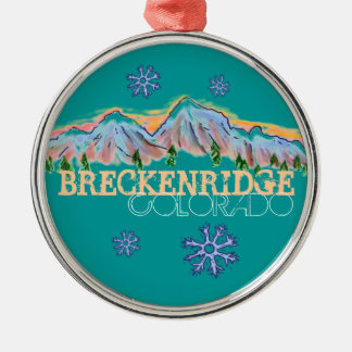 Breckenridge Colorado mountain snowflake ornament
