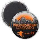 Breckenridge Colorado orange ski magnet