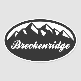 Breckenridge Colorado Oval Oval Sticker