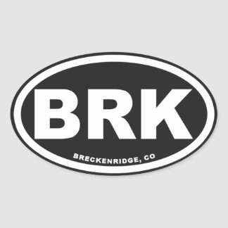 Breckenridge Colorado Oval Sticker
