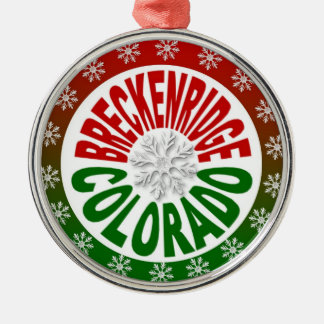 Breckenridge Colorado red green snowflake ornament
