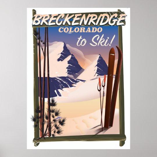 Breckenridge, Colorado ski poster
