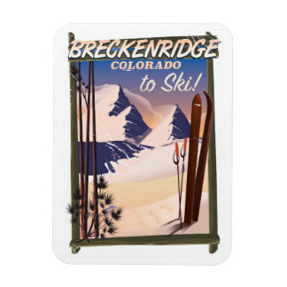 Breckenridge, Colorado ski poster Magnet