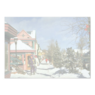 Breckenridge, Colorado, U.S.A. Winter Personalized Announcement