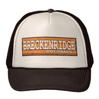 Breckenridge Colorado wooden log sign Hat