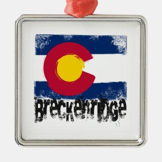 Breckenridge Grunge Flag Christmas Ornament