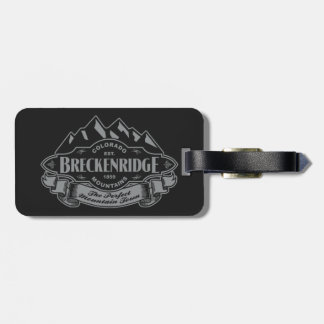 Breckenridge Mountain Emblem Silver Luggage Tag