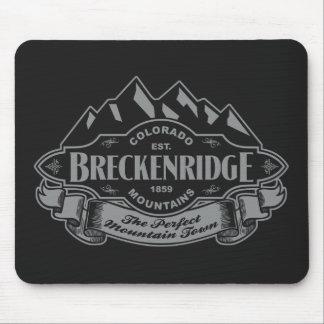 Breckenridge Mountain Emblem Silver Mouse Pad