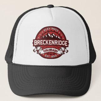 Breckenridge New City Red Trucker Hat