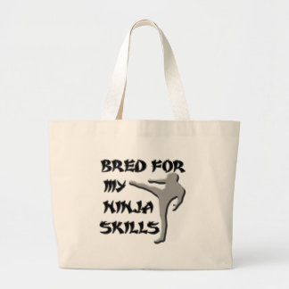 BRED FOR MY NINJA SKILLS CANVAS BAGS