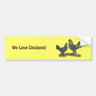 Breda Chickens Cuckoo Car Bumper Sticker
