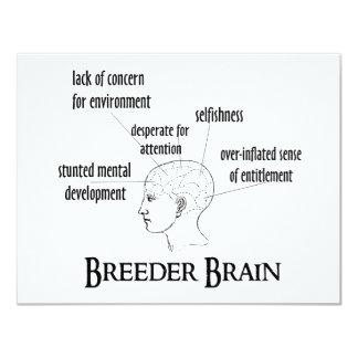 Breeder Brain 11 Cm X 14 Cm Invitation Card