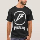 Breezer Logo Lettering Plain T-Shirt Black