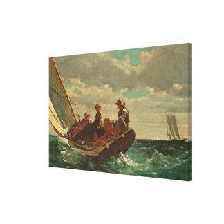 Breezing Up (A Fair Wind) 1873-76 Canvas Print