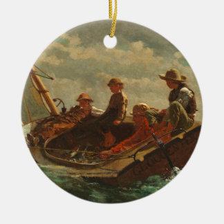 Breezing Up (A Fair Wind) 1873-76 Round Ceramic Decoration