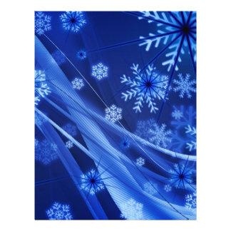Breezy Blue Christmas Snowflakes 21.5 Cm X 28 Cm Flyer