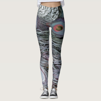 breezy peacock feathers leggings