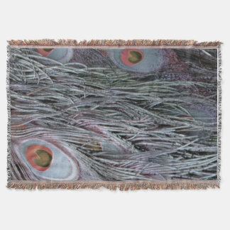 breezy peacock feathers throw blanket