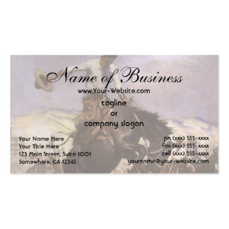 Breezy Riding by WHD Koerner, Vintage Rodeo Cowboy Business Cards