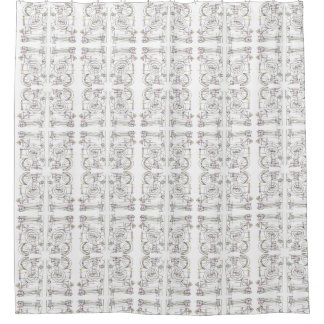 Breezy-Whimsical Geometric Pattern Shower Curtain