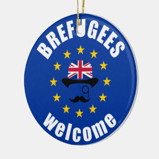 Brefugees Welcome Christmas Ornament