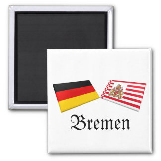 Bremen, Germany Flag Tiles Magnet