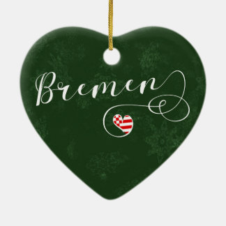 Bremen Heart, Christmas Tree Ornament, Germany Christmas Ornament