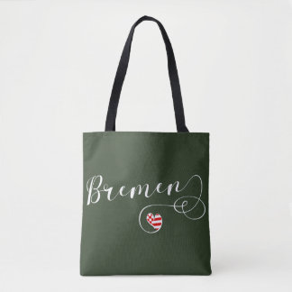 Bremen Heart Grocery Bag, Germany Tote Bag