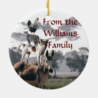 Bremen Musicians Fun Animal Story Christmas Ornament