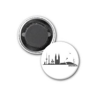 Bremen skyline refrigerator magnet