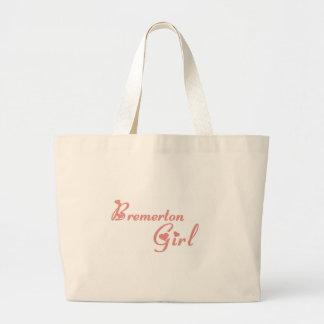 Bremerton Girl tee shirts Canvas Bags