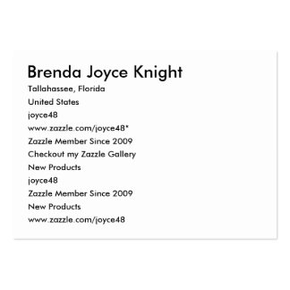 Brenda Joyce Knight, Tallahassee, Florida, Unit... Pack Of Chubby Business Cards