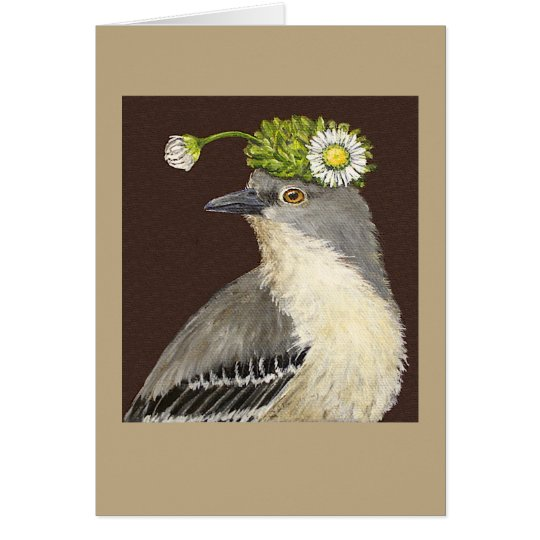 Brenda the mockingbird card