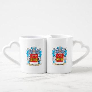 Brennan Coat of Arms Couple Mugs
